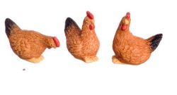 Brown Hens set of 3