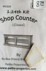 Half Inch Scale Glazed Shop Counter Kit