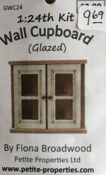 Half Inch Scale Glazed Wall Cupboard Kit