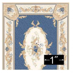 Rug Aubusson in Blue