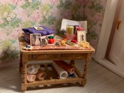 Stocked Sewing Table