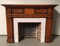 Braxton Payne Adam Fireplace in Warm Walnut