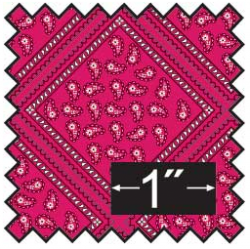 Bandana Silk Fabric Half Inch Scale