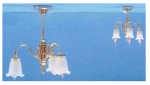 3 Down-Arm Frosted Tulip Shade Chandelier