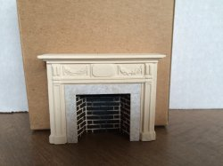 Braxton Payne Adam Fireplace in Parchment White