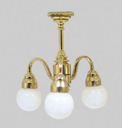 Three Arm Globe Chandelier