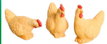 Golden Hens set of 3