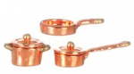 Copper Colored Pans Set
