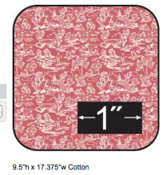 Cotton Fabric Campagne Red Reverse Half Inch Scale
