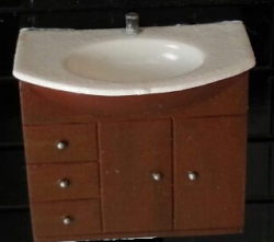 Half Inch Scale Sink Cabinet Vanity