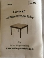 Half Inch Scale Vintage Kitchen Table Kit