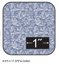 Cotton Fabric Campagne Blue Reverse Half Inch Scale