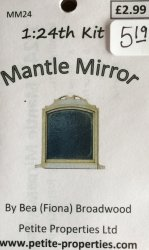 Half Inch Scale Mantle Mirror Kit