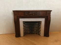 Braxton Payne European Style Fireplace in Warm Walnut