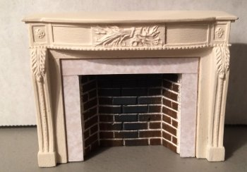 Braxton Payne European Style Fireplace in Parchment White