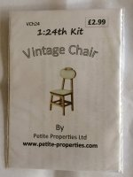 Half Inch Scale Vintage Chair Kit