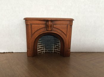Braxton Payne Victorian Fireplace in Warm Walnut