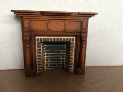 Braxton Payne Colonial Fireplace in Warm Walnut
