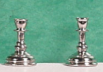 Candlestick Pair Silver Finish