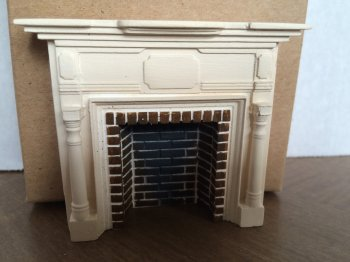 Braxton Payne Colonial Fireplace in Parchment White