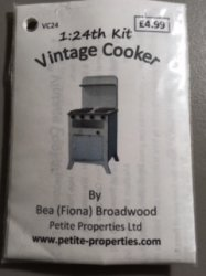 Half Inch Scale Vintage Cooker Kit