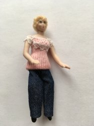 Lady Blue Jeans Half Scale Doll