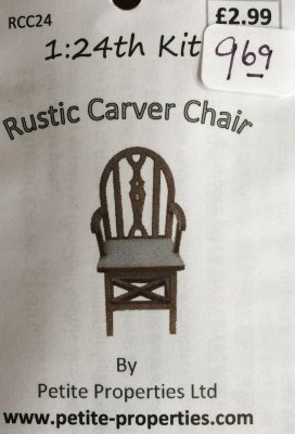 Half Inch Scale Rustic Carver Chair