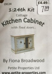 Half Inch Scale Cottage Kitchen Cabinet Kit