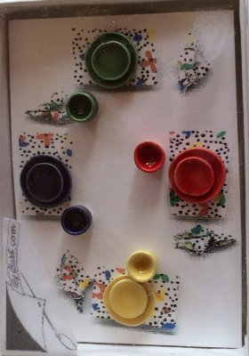 Fiesta Ware Four Place Setting