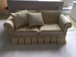 Shabby Chic Sofa in Yellow