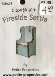 Half Inch Scale Fireside Settle Kit