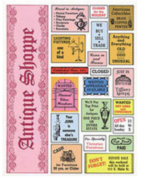 Antique Shoppe Signs Sheet