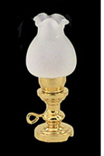Oil Lamp with Frosted Glass Shade