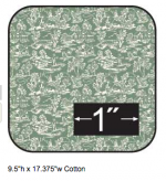 Cotton Fabric Campagne Green Reverse Half Inch Scale