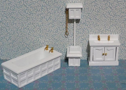 Three Piece Victorian Bathroom set