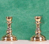 Candlestick Pair Gold Finish