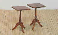 Scalloped Rectangular Table Pair
