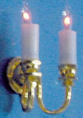 Dual Candle Wall Sconce
