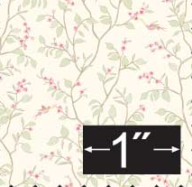 Cherry Blossom Silk Fabric Half Inch Scale