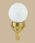 White Round Globe Wall Sconce