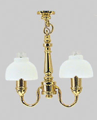 Two Arm Fluted Shade Chandelier