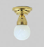 Small Globe Ceiling Lamp
