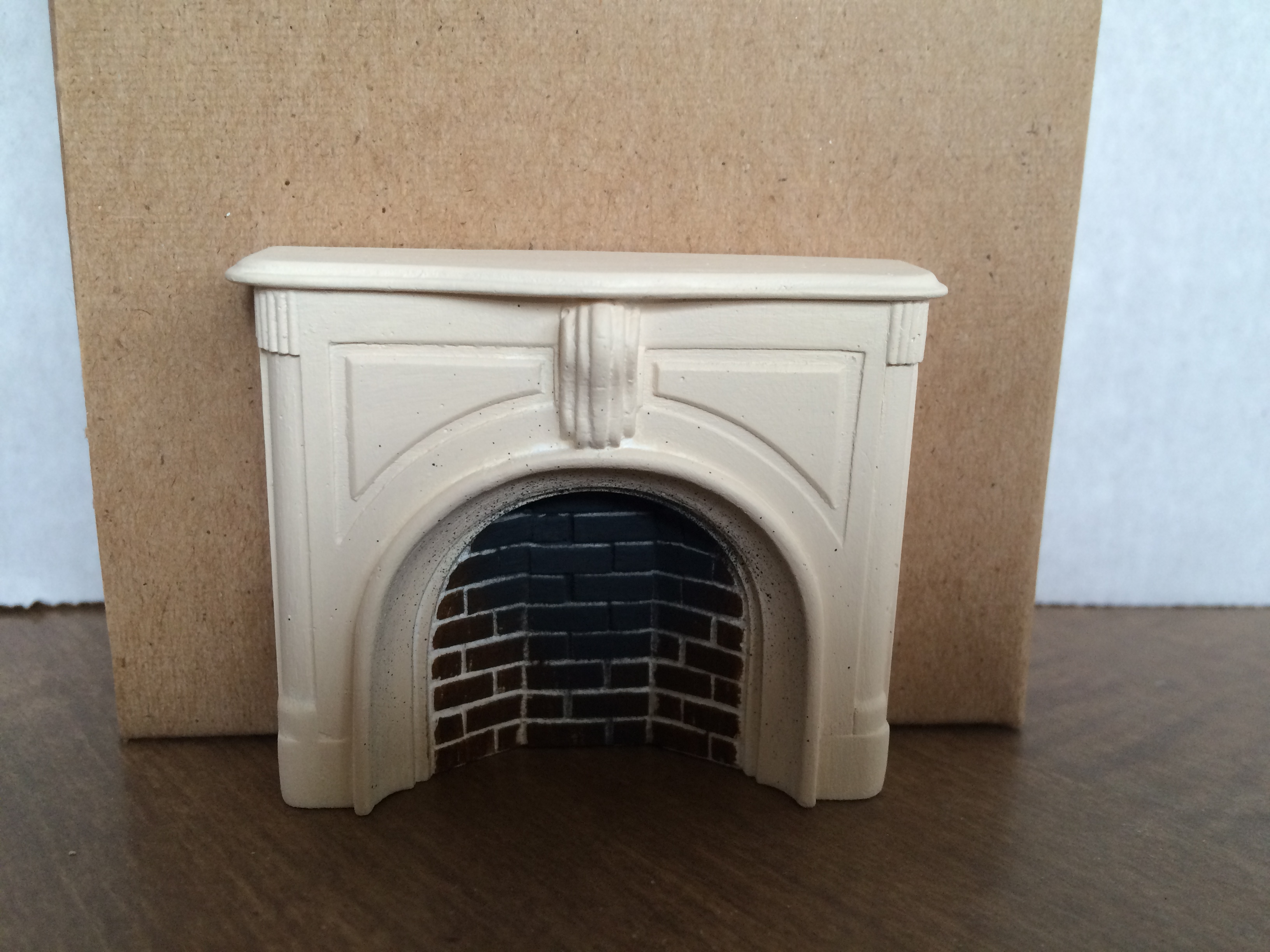 Braxton Payne Victorian Fireplace in Parchment White