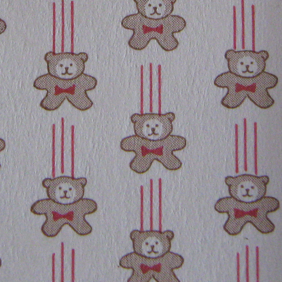 Bears with Red Ribbon Wallpaper