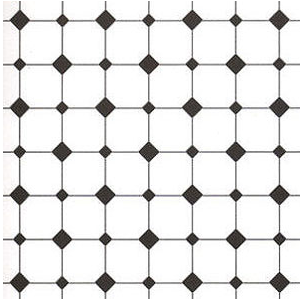 Diamond Tile Paper Black & White