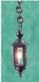 Hanging Coach Lamp Black Finish - Click Image to Close